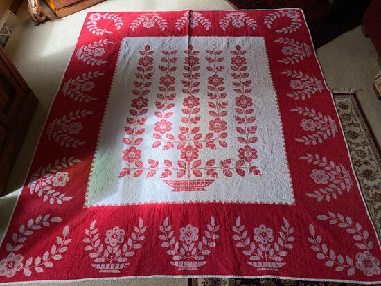 Hand sewn Quilt, 76 x 86.