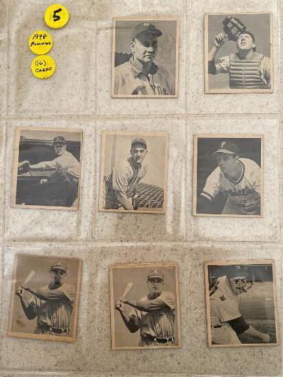 (16) 1948 Bowman baseball cards.