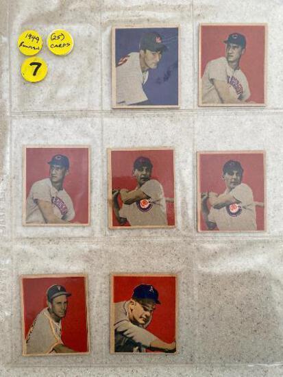 (25) 1949 Bowman baseball cards.