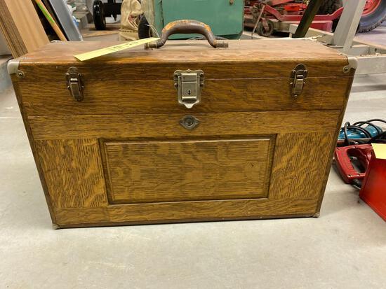 Nice wood machinist box