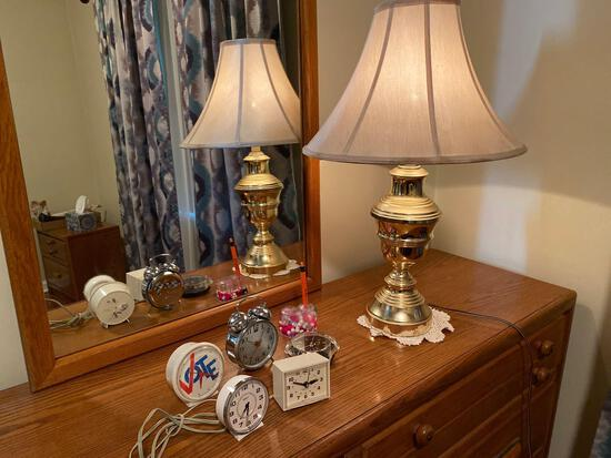 Touch Lamp-clocks-small Flat wall stand