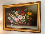 Floral oil on canvas