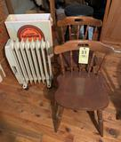 Electric Radiator- 2 Maple Chairs - stool-Card table