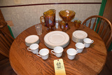 Royal Doulton service for 6 with extra pcs. and Carnival pitcher & bowl
