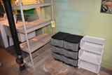 Organizers and storage shelf.