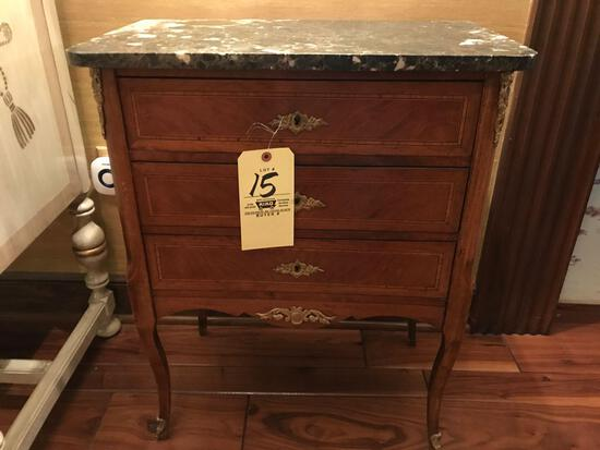 3 drawer stand with marble top