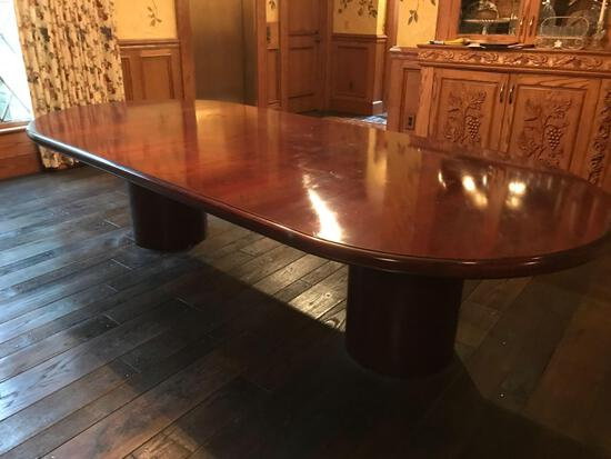Large double pedestal dining room table
