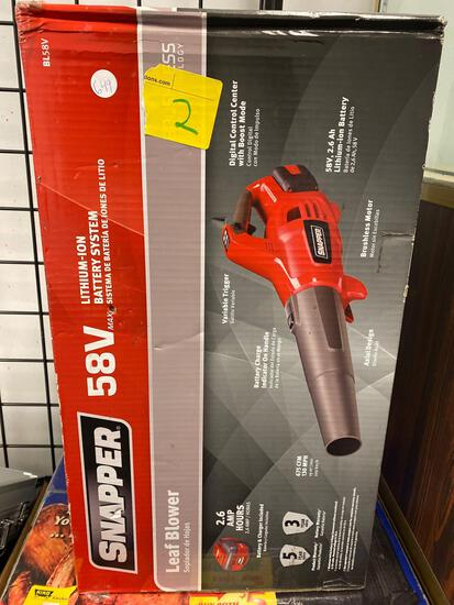 Snapper 58v leaf blower, new in box