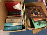 (2) Boxes of Books