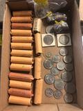 Rolls of quarters, half dollars, etc