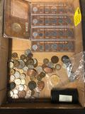 1978 mint sets, misc coins, foreign coins, tokens
