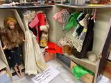 Vintage Barbie Doll in Case w/ Clothing