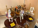 American Glory Horse Figurines, Franklin Mint Carousel