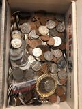 Cigar box full of coins
