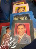 Matted prints of vintage celebrities, 23 total, old sheet music, old magazines