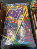 Monopoly game, old plastic toys, vintage can and more