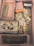 Box of brass stencils