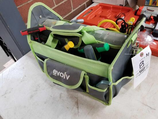 Tool caddy with tools
