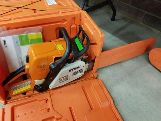 Stihl MS290 chainsaw, husqvarna case