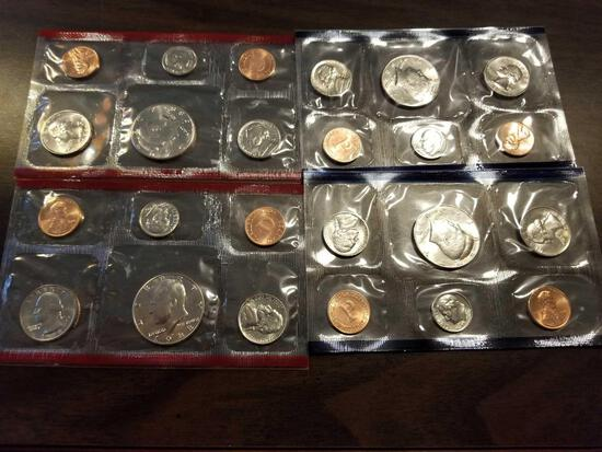 1988 Kennedy half proof sets, bid x 4