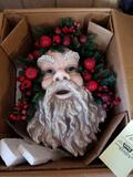 Large 3D Santa face, new in box