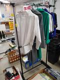 Clothes rack, misc. clothing