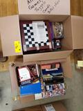 Books, games, poker chips