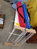 Drying rack, folding chairs, snack tray