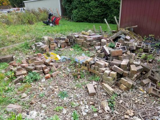 Group of assorted paving brick. Some from Ohio State Prison