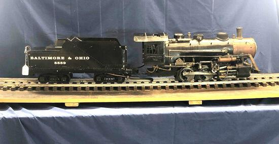 Live Steam Baltimore and Ohio 5559 Engine and Tender with Track Platform