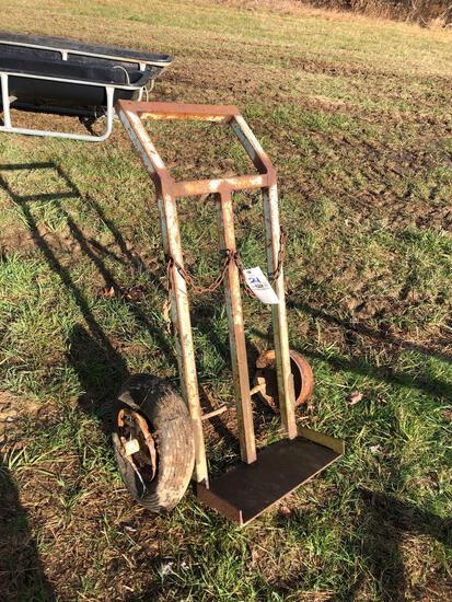 Heavy steel torch cart
