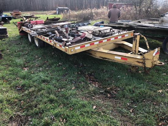 1987 Bame deck-over equipment trailer