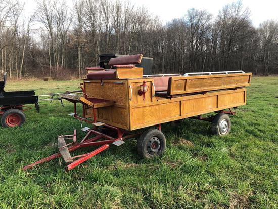 12' oak horse-drawn wagon