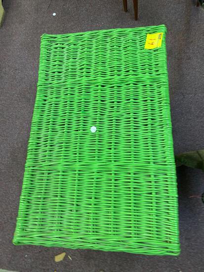 Green wicker trunk