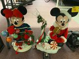 Mickie and Minnie Christmas Displays