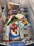 Tote of Disney VHS Tapes