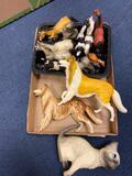 (11) Horse, (2) Collies, (1) Cat Figurines