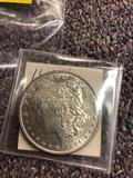 1884 silver dollar coin