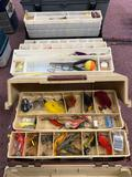 3 tackle boxes full