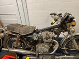 Old motorcycle 1976, Honda exhaust system