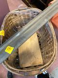 Large Wooden baskets wood shelf