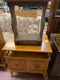 Wood end table and wooden cabinet/end table