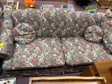 Floral fabric couch
