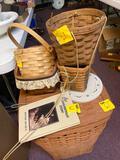 Longaberger baskets, book and laundry basket