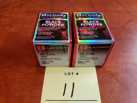 (2) Full Boxes 36 Cal .375 Muzzleloading Balls