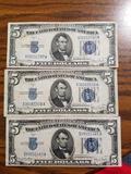 1934 D $5 silver certificates
