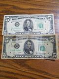 1950c $5 dollar notes