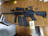 Bushmaster XM15-E2S 5.56 cal, foregrip, pistol grip, red dot, laser sight and 2 mags