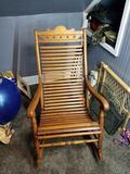 Antique slat back rocking chair