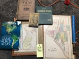 Old atlas books maps other books